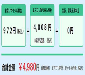 エアコン処分料金