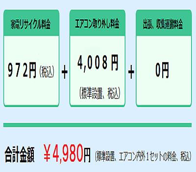 エアコン処分は東京で最安値の料金