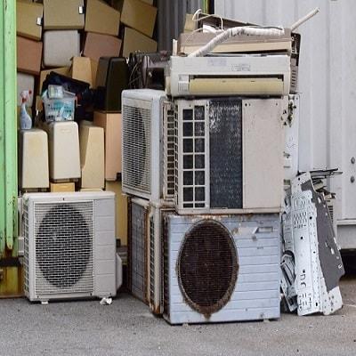 東京で回収されたエアコン