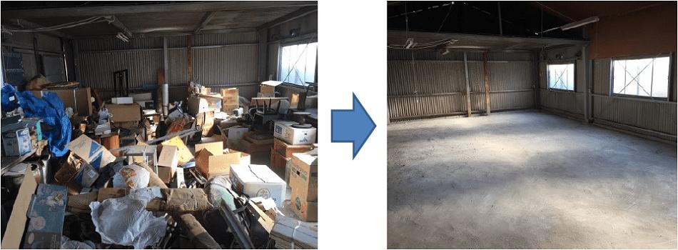 東京の倉庫の粗大ごみ回収