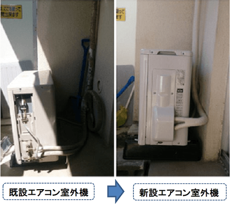 武蔵野市境の便利屋「室外機交換」
