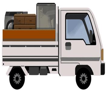 東京の粗大ゴミ回収車