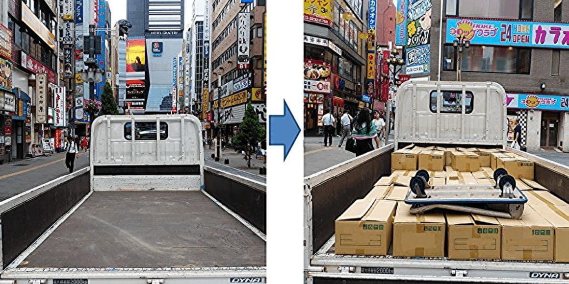 東京都新宿区歌舞伎町で企業ゴミ回収
