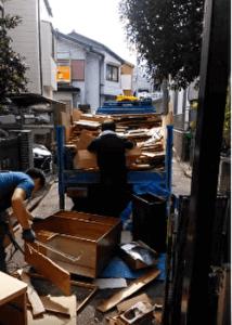 武蔵野市の不用品回収業者の片付け作業動画・1